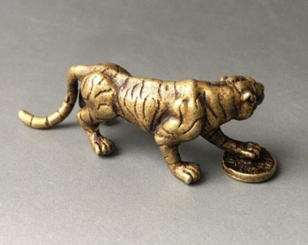 Statue Tigre Fauve Féodal cote