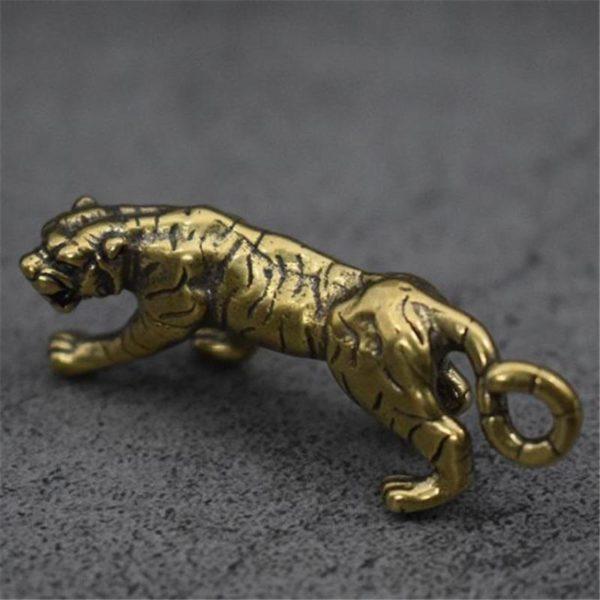 Statue Tigre Fauve profil
