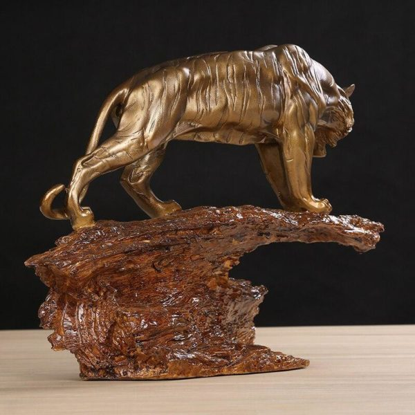 Statue Tigre Gouvernance Feline profil