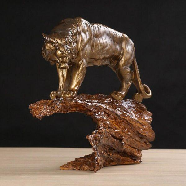 Statue Tigre Gouvernance Feline face