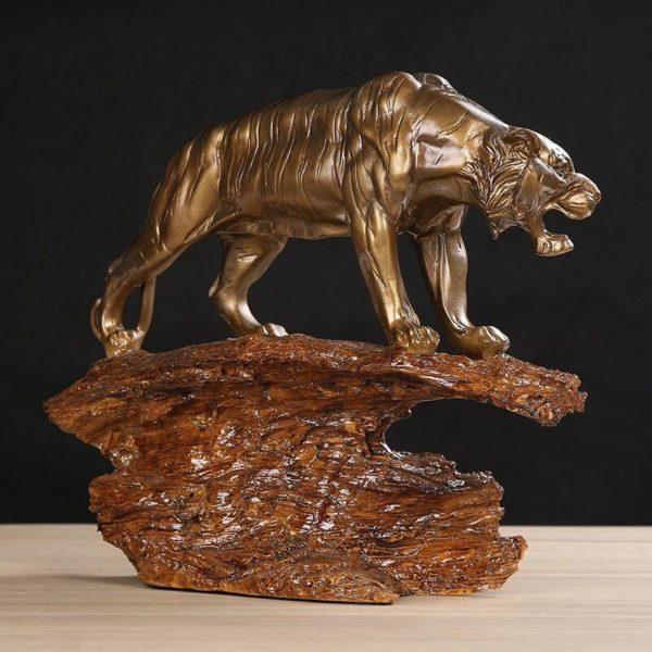 Statue Tigre Gouvernance Feline cote