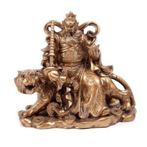 statue tigre zhao master tiger bronze