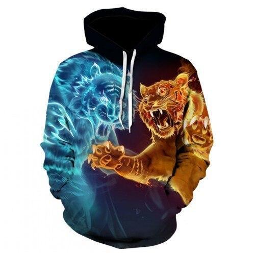 Sweat Tigre Duel D'Esprit