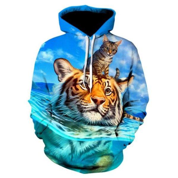 Sweat Tigre et Chat