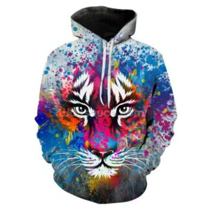 sweat tigre artistique