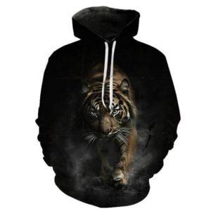 Sweat tigre marche obscure