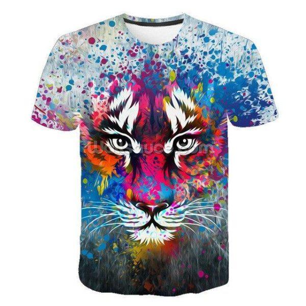 T-Shirt Tigre Artistique
