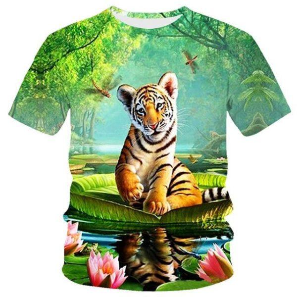 T-Shirt Tigre Bébé Sur Nautilus