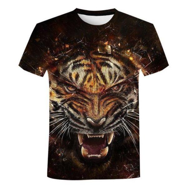 T-Shirt Tigre explosion de fureur