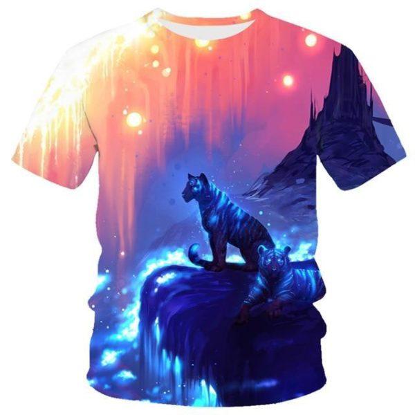 T-Shirt Tigre Coucher de Soleil