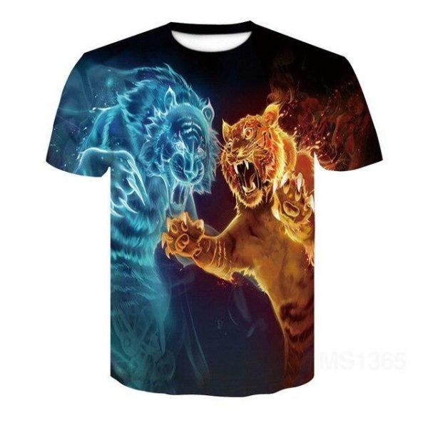 T-Shirt Tigre Duel D'Esprit