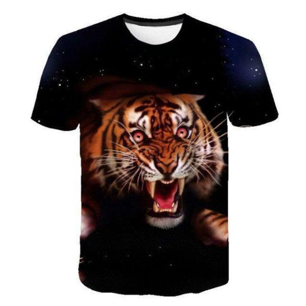 T-Shirt Tigre En Furie