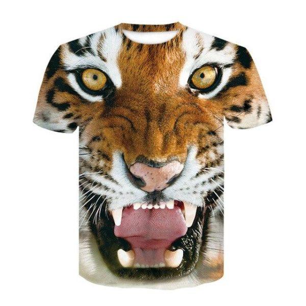 T-Shirt Tigre rugissement féroce