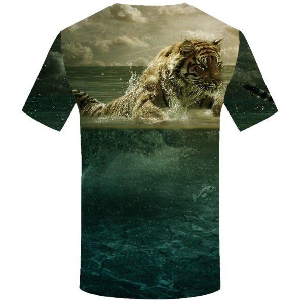 T-Shirt Tigre En Mer