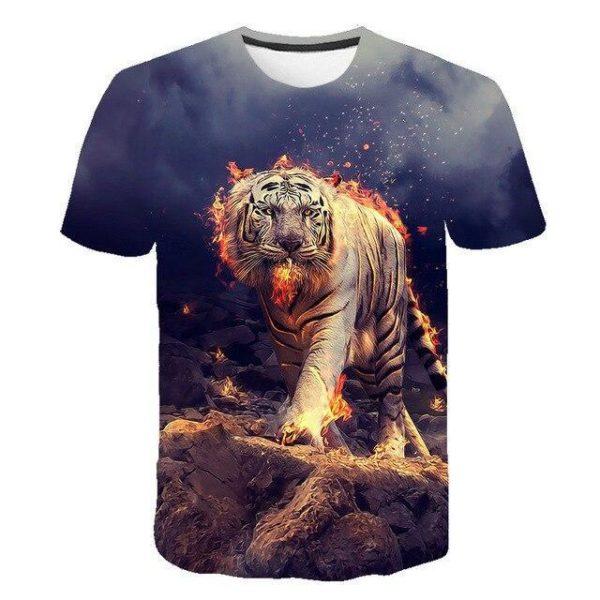 T-Shirt Tigre Enflammé