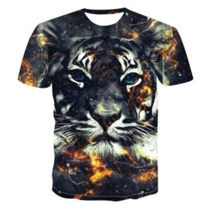 T-Shirt-Tigre-Fauve-Volcanique