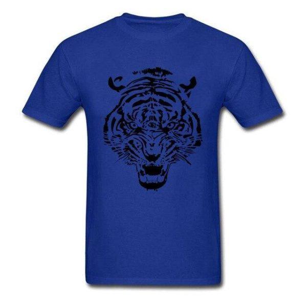 T-Shirt Tigre tribal bleu