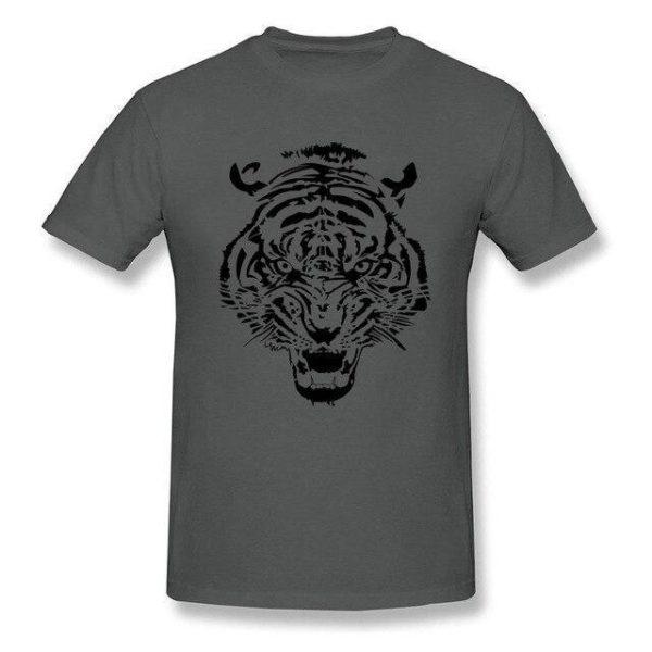 T-Shirt Tigre tribal gris foncé
