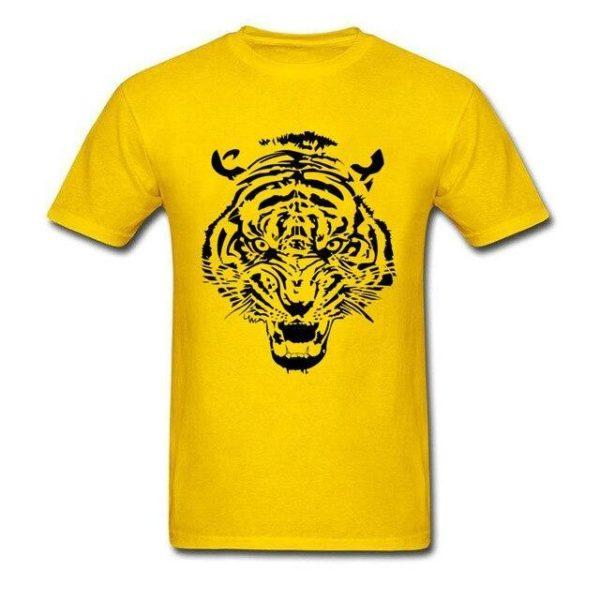 T-Shirt Tigre tribal jaune