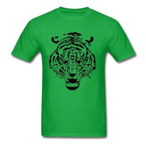 T-Shirt Tigre tribal vert