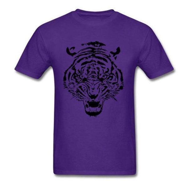 T-Shirt Tigre tribal violet