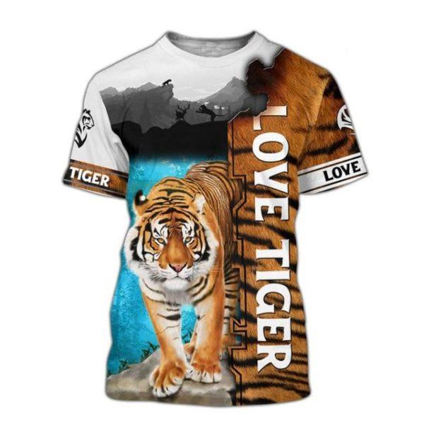 t-shirt tigre love tiger picture