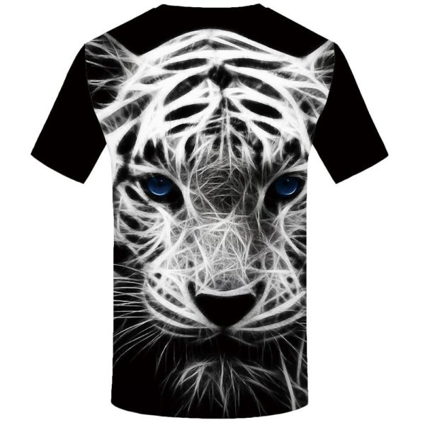T-Shirt Tigre Lumineux Blanc