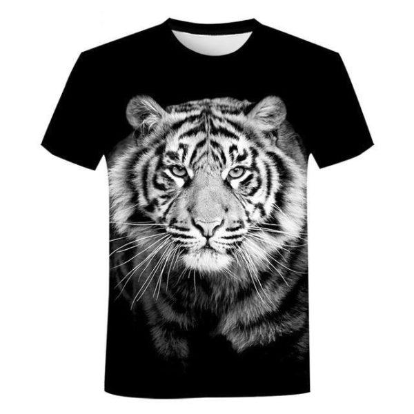 T-Shirt Tigre Noir & Blanc