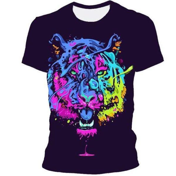 t-shirt tigre picture color