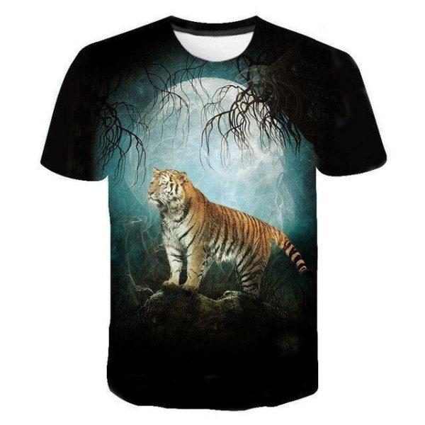 T-Shirt Tigre pleine lune