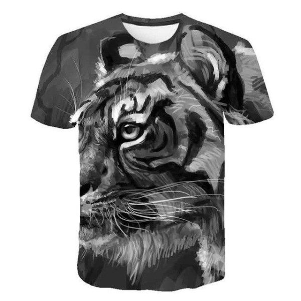 T-Shirt Tigre Profil Aquarelle