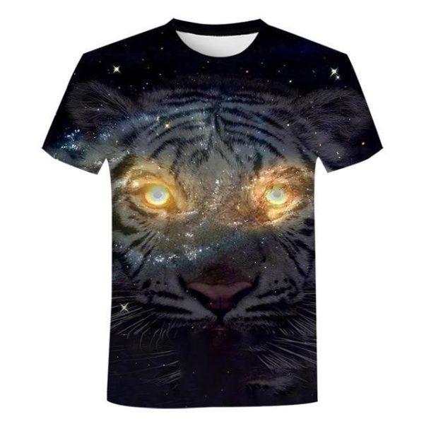 T-Shirt Tigre Regard Galaxy