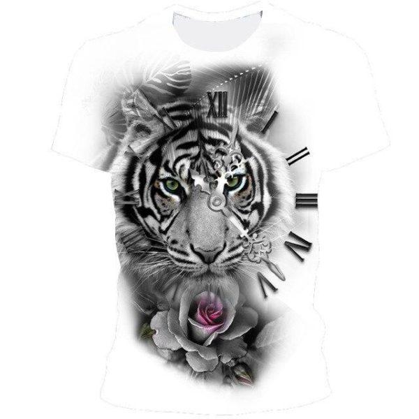 t-shirt tigre time fauve