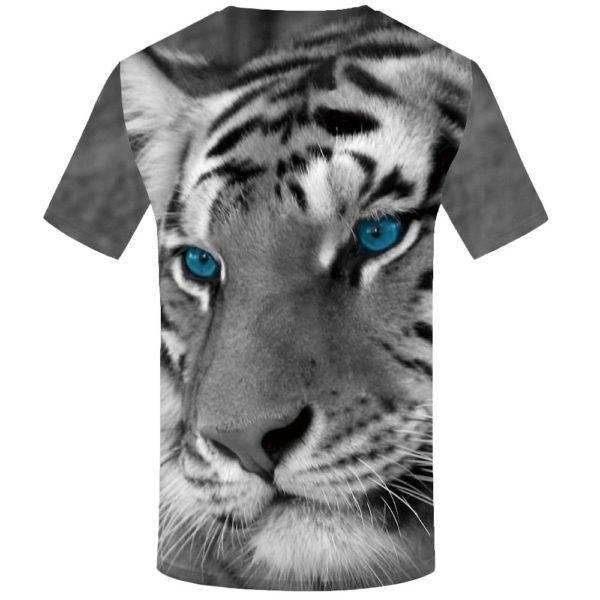 T-Shirt Tigre Yeux Bleus