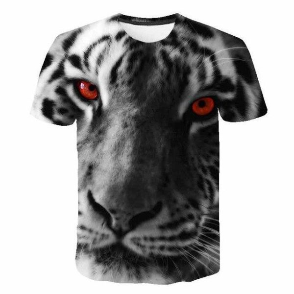 T-Shirt Tigre Yeux Rouge