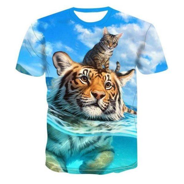 T-Shirt Tigre & Chat