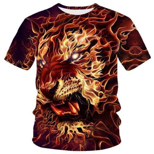 T-Shirt Tigre de flamme