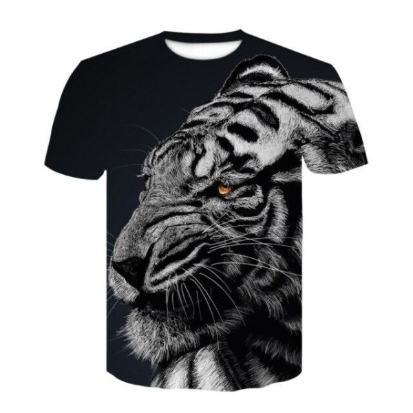 t-shirt tigre fauve féroce