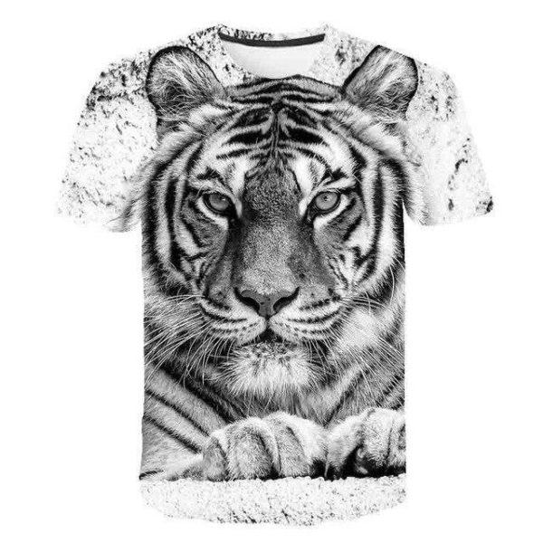t-shirt tigre pause félin