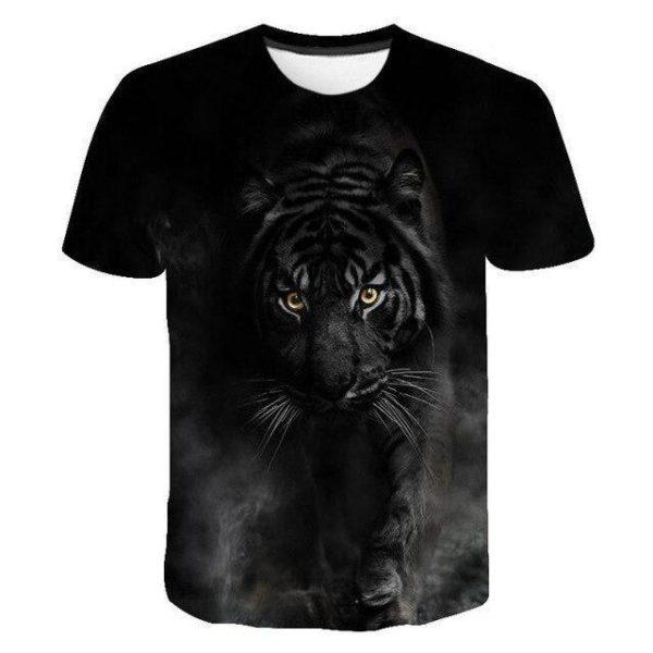 t-shirt tigre noir