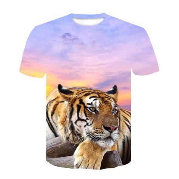 t-shirt tigre paisible