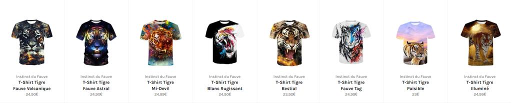 t-shirt tigre de java