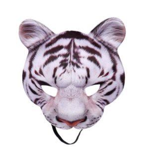 masque tigre blanc