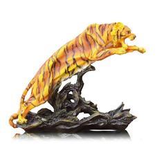statue tigre bondissement