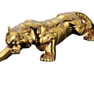 statue tigre gold diams