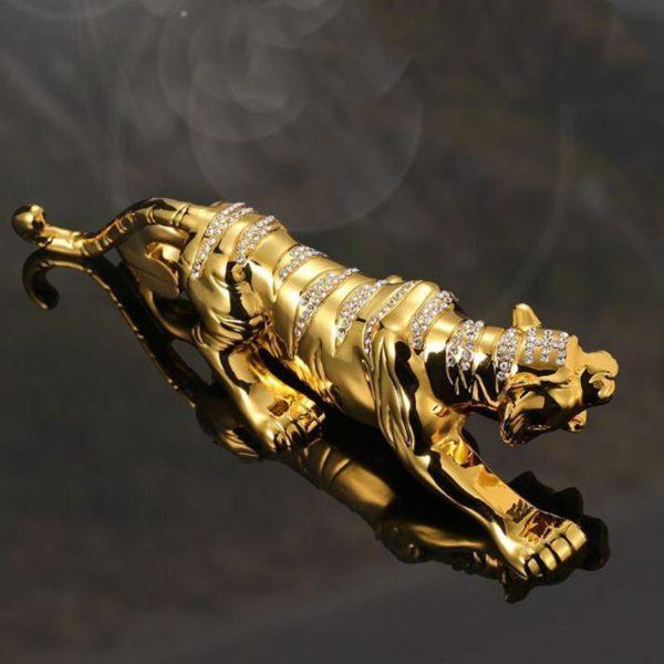 statue tigre gold diams vue dessus