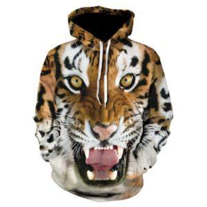 sweat tigre rugissement feroce