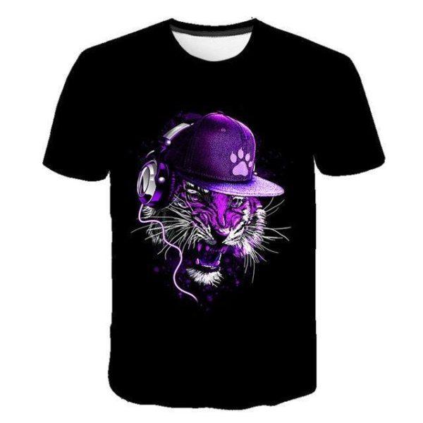 t-shirt tigre bestial dj