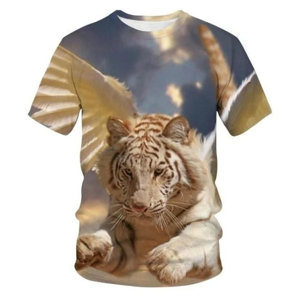 t-shirt tigre fauve angel