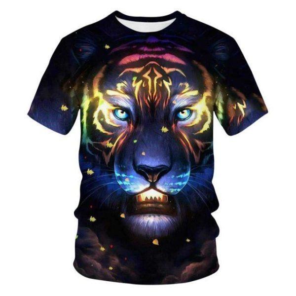 t-shirt tigre fauve astral